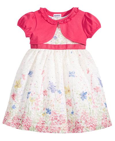 Blueberi Boulevard 2-Pc. Shrug & Dress Set, Toddler Girls