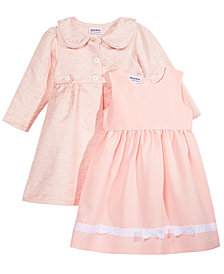 Blueberi Boulevard 2-Pc. Coat & Dress Set, Little Girls