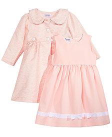 Blueberi Boulevard 2-Pc. Coat & Dress Set, Little Girls