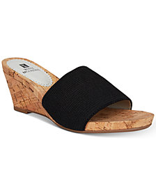 White Mountain Aleah Slide Wedge Sandals