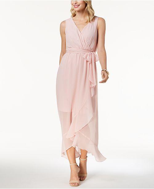 6b5442e1c9 sangria Ruffled Chiffon Maxi Dress  sangria Ruffled Chiffon Maxi Dress ...