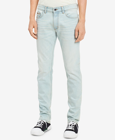 Calvin Klein Jeans Men's Slim-Fit Stretch Icy Blue Jeans
