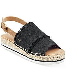 Tommy Hilfiger Women's Grove Slingback Espadrille Flatform Wedge Sandals