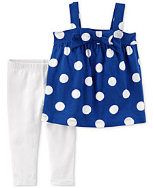 Carter's 2-Pc. Dot-Print Tunic & Leggings Set, Baby Girls