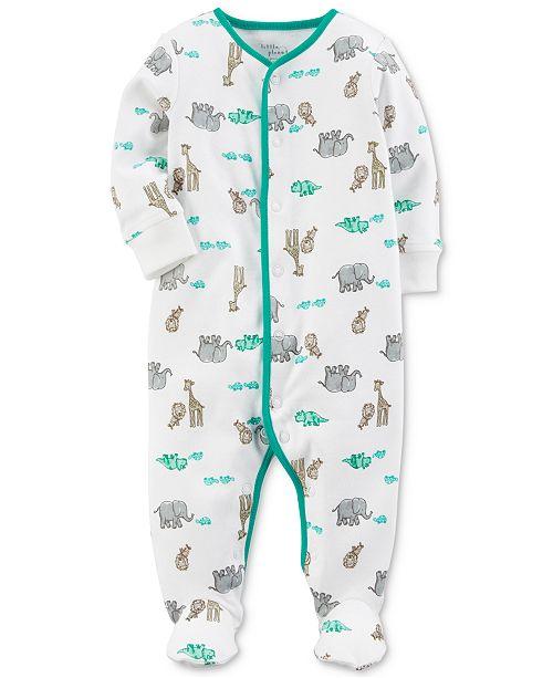 Little Planet Organics  Safari-Print Cotton Coverall, Baby Boys