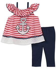 Kids Headquarters Anchor-Print Tunic & Leggings Set, Baby Girls