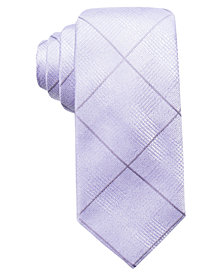 Ryan Seacrest Distinction™ Men's Sorrento Tonal Grid Silk Slim Tie, Created for Macy's