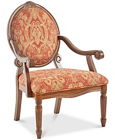 Rory Fabric Royal Burgundy Oval Back Accent Chair
