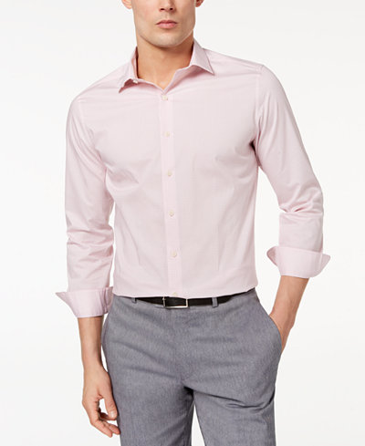 Bar III Men's Slim-Fit Stretch Easy Care Print Dress Shirt, Created for Macy's