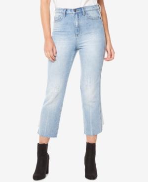 Buffalo David Bitton Cotton FrayedHem Cropped Jeans