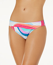 Hula Honey Junior's Flying Colors Printed Bikini Bottoms, Created for Macy's