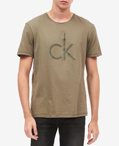 Calvin Klein Jeans Men's Big and Tall Shadow Logo T-Shirt
