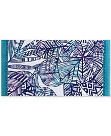 "Body Glove Paluma Cotton 36"" x 70"" Tropical-Print Beach Towel"