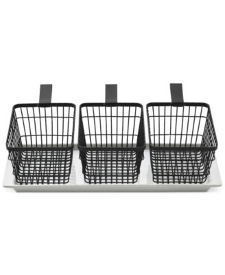 black metal basket,set of 4