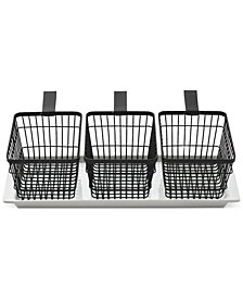 CLOSEOUT! The Cellar 4-Pc. Wire Basket Serving Set, Created for Macy's