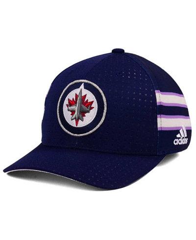 adidas Winnipeg Jets Hockey Fights Cancer Stretch Cap