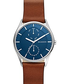 Men's Holst Brown Leather Strap Watch 40mm