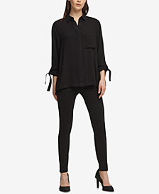 DKNY Roll-Tab Shirt, Created for Macy's