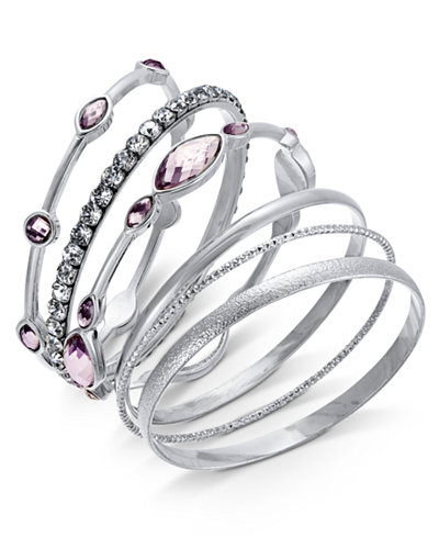 day bangles created s silver tone only shop bracelet bracelets macys for danori bangle macy memorial crystal sale at pave