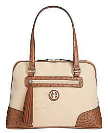 Giani Bernini Linen Dome Satchel, Created for Macy's