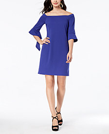 Thalia Sodi Off-The-Shoulder Shift Dress, Created for Macy's