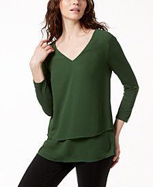 MICHAEL Michael Kors Layered-Look Top in Regular & Petite Sizes