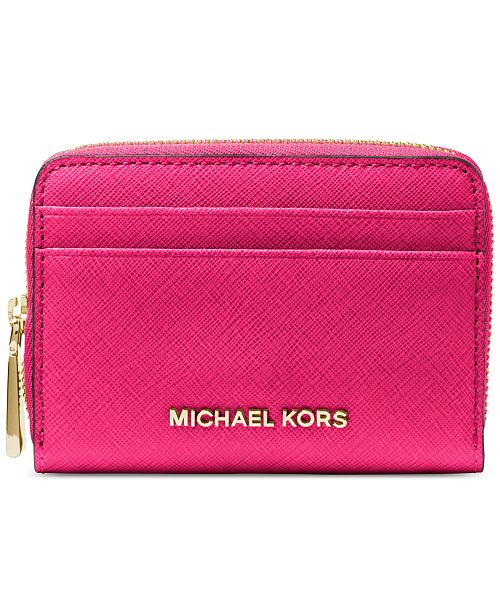 5f85d74567a9 Michael Kors Zip-Around Saffiano Leather Wallet   Reviews ...