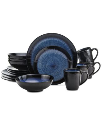 Gourmet Basics by Mikasa Reed Teal 16-Pc. Dinnerware Set Service for 4  sc 1 st  Macy\u0027s & Gourmet Basics by Mikasa Reed Teal 16-Pc. Dinnerware Set Service ...