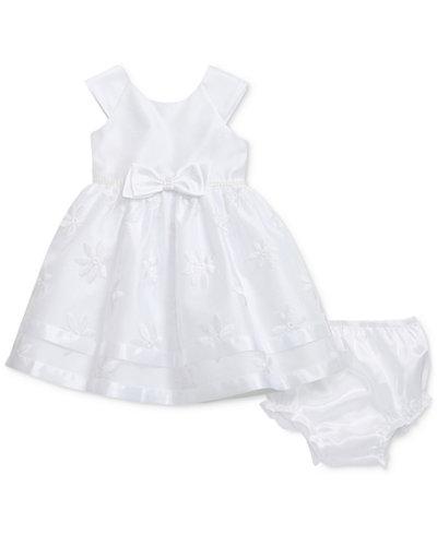 Sweet Heart Rose Woven Party Dress, Baby Girls