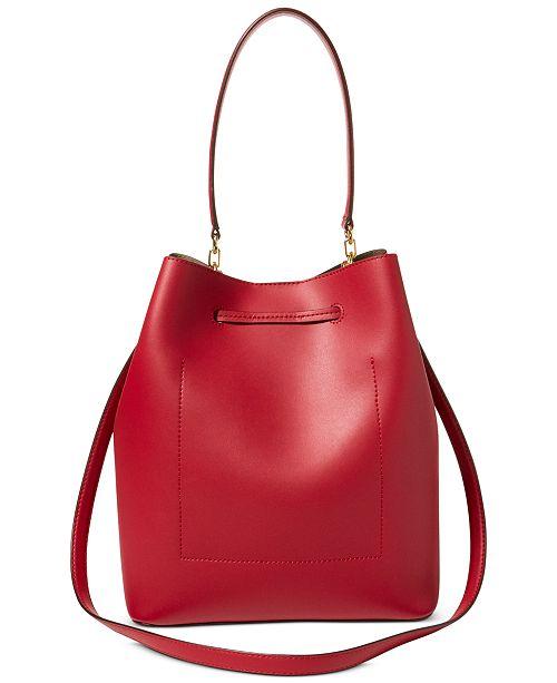 78cd7c3d2aa3 Lauren Ralph Lauren Dryden Debby Leather Drawstring   Reviews ...