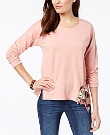 Style & Co Petite Tie-Hem Top, Created for Macy's