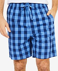Nautica Men's Buffalo Plaid Pajama Shorts