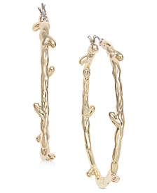 "I.N.C. Large 2"" Gold-Tone Twig Hoop Earrings, Created for Macy's"