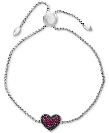 EFFY® Certified Ruby Cluster Slider Bracelet (5/8 ct. t.w.) in Sterling Silver