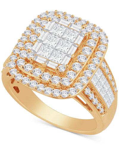 Diamond Cluster Ring (2-1/2 ct. t.w.) in 14k Gold