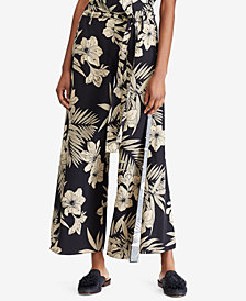 Polo Ralph Lauren Floral-Print Wide-Leg Pants