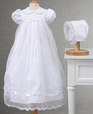 Lauren Madison Embroidered Christening Gown Baby Girls