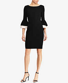 Lauren Ralph Lauren Bell-Sleeve Dress, Regular & Petite Sizes, Created for Macy's