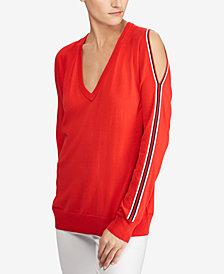 Lauren Ralph Lauren Cold-Shoulder Sweater