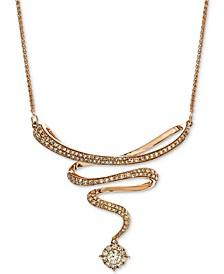 "Diamond Swirl 17"" Statement Necklace (3/4 ct. t.w.) in 14k Rose Gold"
