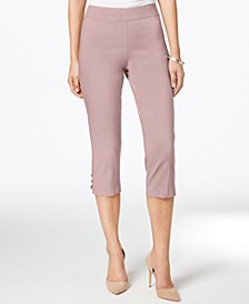Petite Lattice-Hem Capri Pants, Created for Macy's
