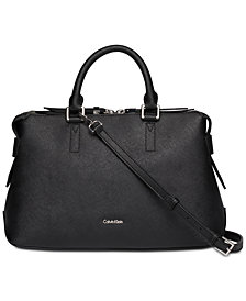 Calvin Klein Maggie Leather Satchel