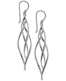 Pointed Twist Drop Earrings in Sterling Silver, Created for Macy's