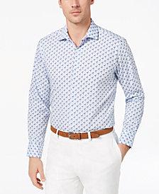 Tallia Men's Slim-Fit Flamingo-Print Dress Shirt