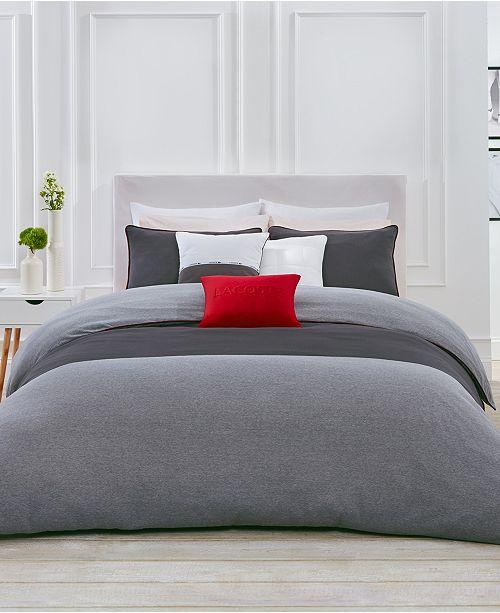 Lacoste Home L.12.12 Cotton 3-Pc. Full/Queen Duvet Cover Set