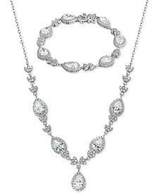 Giani Bernini Cubic Zirconia Teardrop Jewelry Collection in Sterling Silver, Created for Macy's