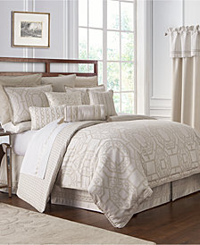 Waterford Reversible Lancaster 4-Pc. Queen Comforter Set