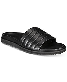 Kenneth Cole Men's Story Quilted Leather Slide Sandals