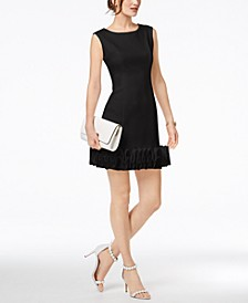 Ruffle-Hem Sheath Dress