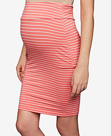 RIPE Maternity Striped Pencil Skirt